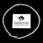 アンクレット ハンドメイド ~Simple Bridal made with Swarovski Crystal Beach Wedding Sterling Silver Anklet