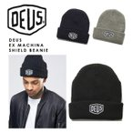 DEUS ニット帽 デウス ニット キャップ 帽子 ワンポイント ロゴ DEUS EX MACHINA SHIELD BEANIE デウス エクス マキナ アメカジ バイクブランド カリフォルニア