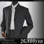 ストライプ織柄変形スタンドマオカラー比翼スーツ/3タック(ブラック)44513 大きいサイズ ビッグサイズ 春夏秋 M/L/3L