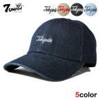 7UNION セブンユニオン ストラップバックキャップ 帽子 / ロープロファイル メンズ レディース デニム / wt bk nv lbe lbw