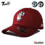 7UNION セブンユニオン ストラップバックキャップ 帽子 / ロープロファイル メンズ レディース チェック レザー / bk bl rd ptn