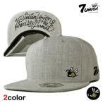 7UNION セブンユニオン ストラップバックキャップ 帽子 / メンズ レディース レザー / gy bk