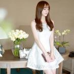 ショッピングノースリーブ ノースリーブ ワンピース (春 夏) 韓国 お姫様 ノースリーブ 花柄模様 ミニワンピ