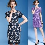 ワンピース (花柄 フラワー リバティ) 韓国ドレス ボタニカル