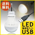 LEDライト USB 電球色 5W 緊急ライト アウトドアライト ON/OFFスイッチ フック付き