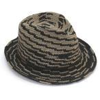 ショッピングヘレンカミンスキー ヘレンカミンスキー カミンスキーXY Sanele/Malt/Charcoal/M 丸めて収納可能なラフィア製ローラブルハット メンズ中折れ帽子 Mサイズ