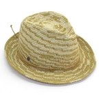 ショッピングヘレンカミンスキー ヘレンカミンスキー カミンスキーXY Sanele/Natural/Turmeric/M 丸めて収納可能なラフィア製ローラブルハット メンズ中折れ帽子 Mサイズ
