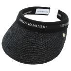 ヘレンカミンスキー HELEN KAMINSKI Marina Charcoal/Black Logo マリーナ UPF50+ サンバイザー  ラフィア製ハット レディス帽子