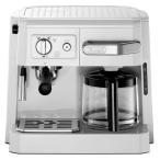 デロンギDeLonghi コンビコーヒーメーカー ドリップコーヒー ホワイト WHITE [BCO410J-W] エスプレッソマシーン カプチーノメーカー