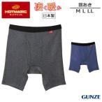 GUNZE グンゼ HOTMAGIC ホットマジック 男性 メンズ あったか 凄く暖か ロングボクサー(前あき)(M L LL)MH0785N