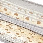 キタムラ 長財布 バッグ柄とバイアス状の格子柄 ZH0416 ライトグレー 82821 One Size