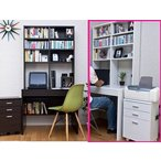 ラック付きパソコンデスク/学習机/PCデスク/書棚/本棚