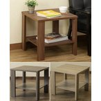 棚付サイドテーブル 収納付リビングテーブル/飾り棚/ワゴン