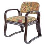 正座椅子 ラタン背もたれ付き らくらくコンパクト高座椅子/玄関イス/籐座敷いす/いたわりチェアー