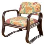 正座椅子 ラタン背もたれ付き らくらくコンパクトミドル座椅子/玄関イス/籐座敷いす/いたわりチェアー