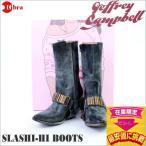 ◆在庫処分セール◆JEFFREY CAMPBELL(ジェフリーキャンベル ブーツ) SLASHI-HI BOOTS(ブラック/ブロンズ) [USA正規品]