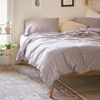 Urban Outfitters(アーバンアウトフィッターズ)/掛け布団カバー*Plum & Bow Tufted Dot Duvet Cover/Purple Grey 37826898<br>
