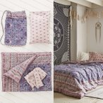 Urban Outfitters(アーバンアウトフィッターズ)/バッグ付き♪ベッドメイキングセット*Plum & Bow Hazelle Comforter Snooze Set 36118024<br>