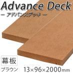 ウッドデッキ 樹脂デッキ 人工木 アドバンスデッキ 13×96×2000mm ブラウン(2.8kg)床材 面材 無垢材