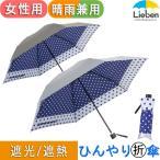 日傘 折りたたみ かさ 遮熱 晴雨兼用 レディース 水玉 LIEBEN-0570
