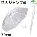 ビニール傘 70cm×8本骨 特大 丈夫 透明 メンズ 大きい傘 LIEBEN-0637