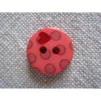 手芸用ボタン Bouton 水玉とハートのボタン ローズ 1個 〈アントレ・デ・フルニス−ル〉