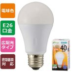 オーム電機 06-3364 LED電球(40W相当/560lm/電球色/E26/広配光240°/密閉形器具対応) LDA5L-G AS25