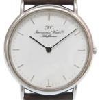 美品 IWC インターナショナルウォッチカンパニー ポートフィノ クオーツ 腕時計 3341 ホワイト 白文字盤 0241 メンズ