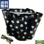 IKEA イケア Sサイズ キャリーバッグ エコバック スクルッティグ SKRUTTIG 水玉 モノトーン