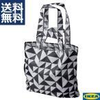 IKEA イケア エコバッグ 1袋 SKYNKE スキンケ ブラック 折りたたみショッピングバッグ キャリーバッグ