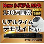 防犯カメラセット ドーム / HD-SDI ハイビジョン 130万画素 / NVR 録画機 防犯カメラ 配線 フルセット/ スマホで遠隔監視 / 屋外用 家庭用 監視カメラ
