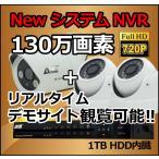 防犯カメラ 3セット / HD-SDI ハイビジョン 130万画素 / NVR 録画機 防犯カメラ 配線 フルセット/ スマホで遠隔監視 / 屋外用 家庭用 監視カメラ
