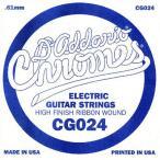 DADDARIO 0019954247027 【10個セット】D'Addario ダダリオ エレキギター用バラ弦 フラットワウンド .024 CG024
