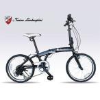 マイパラス TL-212-BLACK 世界が憧れる「ランボルギーニ」の魅力を、自転車に 小型折畳自転 アルミ (BLACK) (TL212BLACK) - 20,500 円
