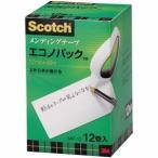 ds-2221375 (まとめ) 3M スコッチ メンディングテープ エコノパック 大巻 12mm×30m 紙箱入 業務用パック MP-12 1パック(12巻)  【×5セット】