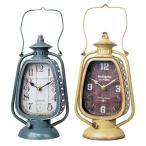 置時計 ランタン型クロック2種 アンティーク加工 置き時計 おしゃれ 北欧 ギフト かわいい インテリア時計 komoraifu