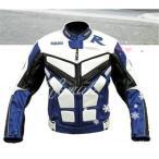 【新品】ヤマハ R バイクジャケット PU革 耐久防寒 バイクウェア オートバイジャケット