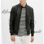 ヨーロッパ人気デザイン ZARA メンズ 長袖 PUレザー ジャケット ジャンパーニットコート