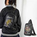 ボディバッグ レディース メンズ ボディーバッグ ブランド 和柄 スカジャン風刺繍入り YOKOSUKA  虎 龍 正規品 安心保障 黒