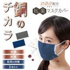 不織布マスクカバー 銅繊維配合 のびる抗菌マスクカバー 2枚入 銅 抗菌 防臭 消臭 清潔 感染予防 肌荒れ 飛沫対策 送料無料