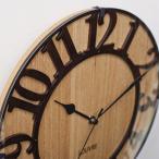 壁掛け時計 おしゃれ 木製 北欧 人気 カフェインテリア レトロ デザイン時計 電波時計 木目 カッコいい