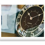 かわいい 壁掛け時計 おしゃれ 掛け時計 カッコイイ 柱時計 茶色 白色 ブラウン グレー 置き時計