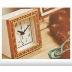 目覚し時計 大人 -Caghiola- 素敵 アジアン エキゾチック 四角 アラームクロック 置き時計 デザイン時計 お洒落 オシャレ