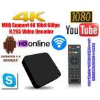 アンドロイドTVBox 4コアCPU 内部ストレージ8GB メモリ1GB 便利なアプリが初期インストール済み Android4.4 4Kテレビ対応 Wi-Fi/LAN対応 LP-MXQ4K