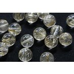 ショッピング天然石 【天然石卸】ゴールドルチルクォーツ10mm 粒売り 3個セット tb-0126