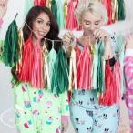 ショッピングクリスマス キッズルーム飾り ウエディング デコレーションのトレンド、タッセルガーランド 5色1セット