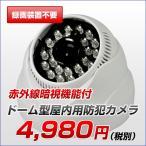 防犯カメラ SDカード録画 監視カメラ 屋内 SDカード 録画装置不要 防犯カメラ ドーム型 人体感知機能 暗視対応