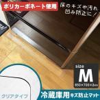 冷蔵庫下の床をキズやへこみ防止に最適なマット!