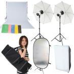 撮影機材 撮影照明 撮影会にもバッチリOK「超簡単本格派デジカメ撮影照明」ストロボ250W照明フルセット