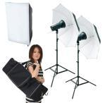 撮影機材 撮影照明「ソク撮」入門150W ストロボ2灯セット